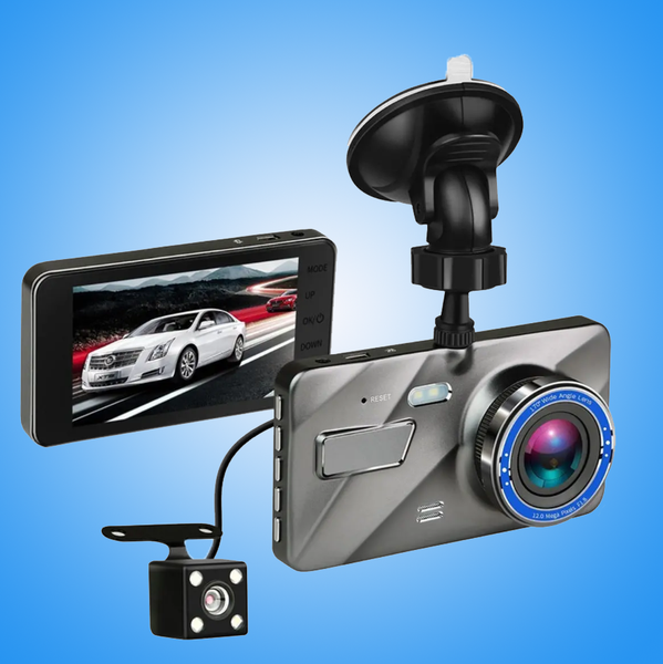 RecMe™ Rear View Mirror Reverse Camera Dual Dash Cam Car Black Box