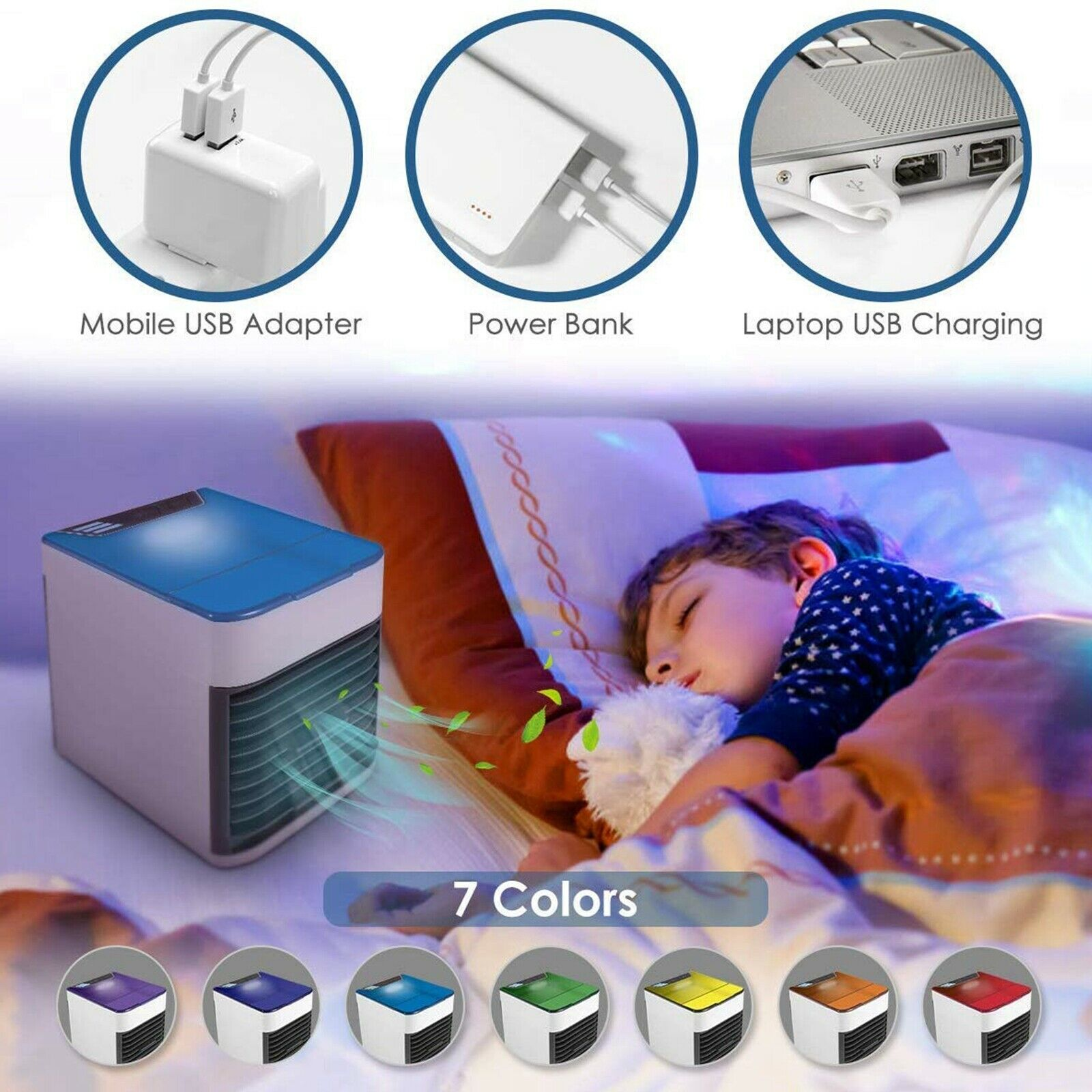 S-Cool™ Mini Personal Space Portable Ductless Air Conditioner/AC Humidifier
