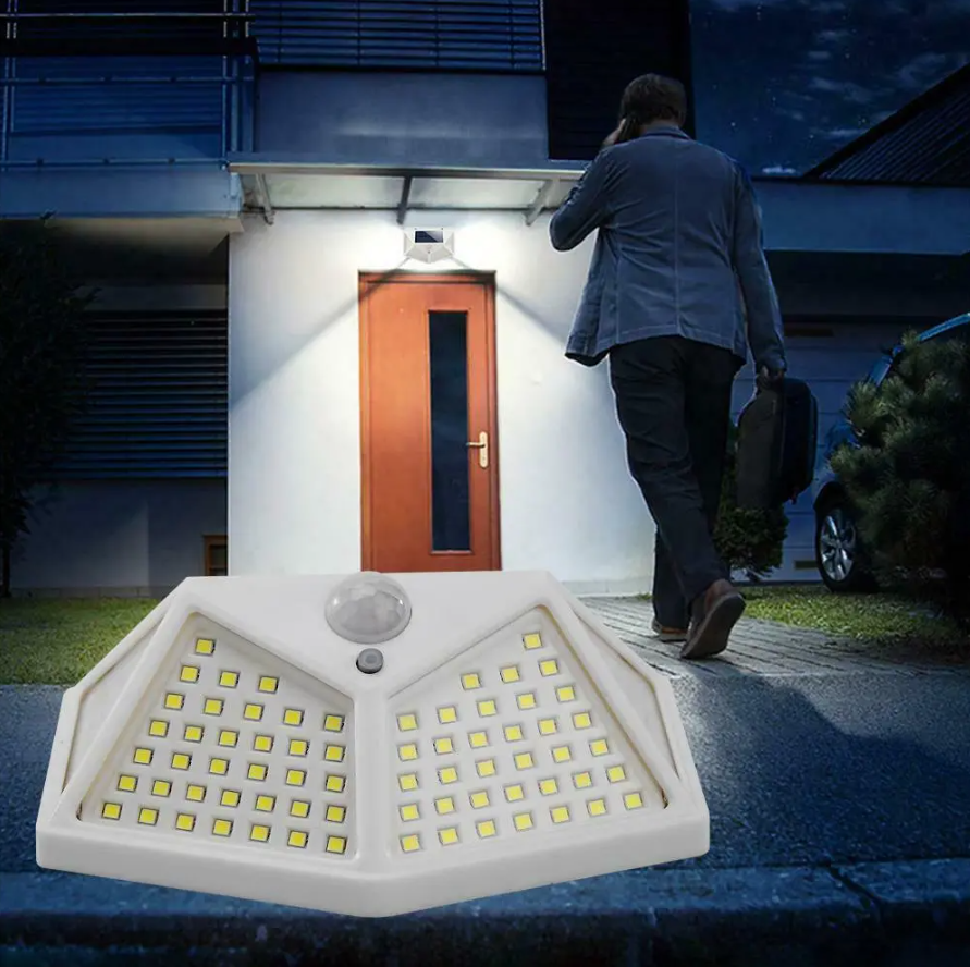 CodeLight™ 100 LED Outdoor Wall Solar Powered Security Pathway Light 2-Pack