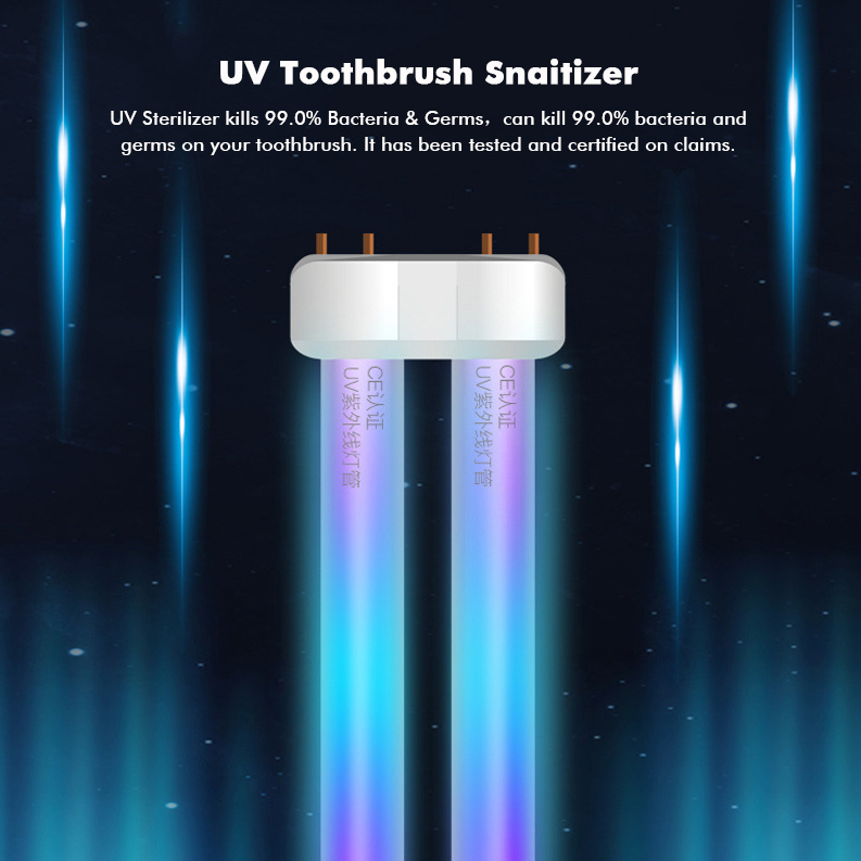 SterilX™ UV Toothbrush Sterilizer Toothpaste Dispenser Wall Mounted Holder