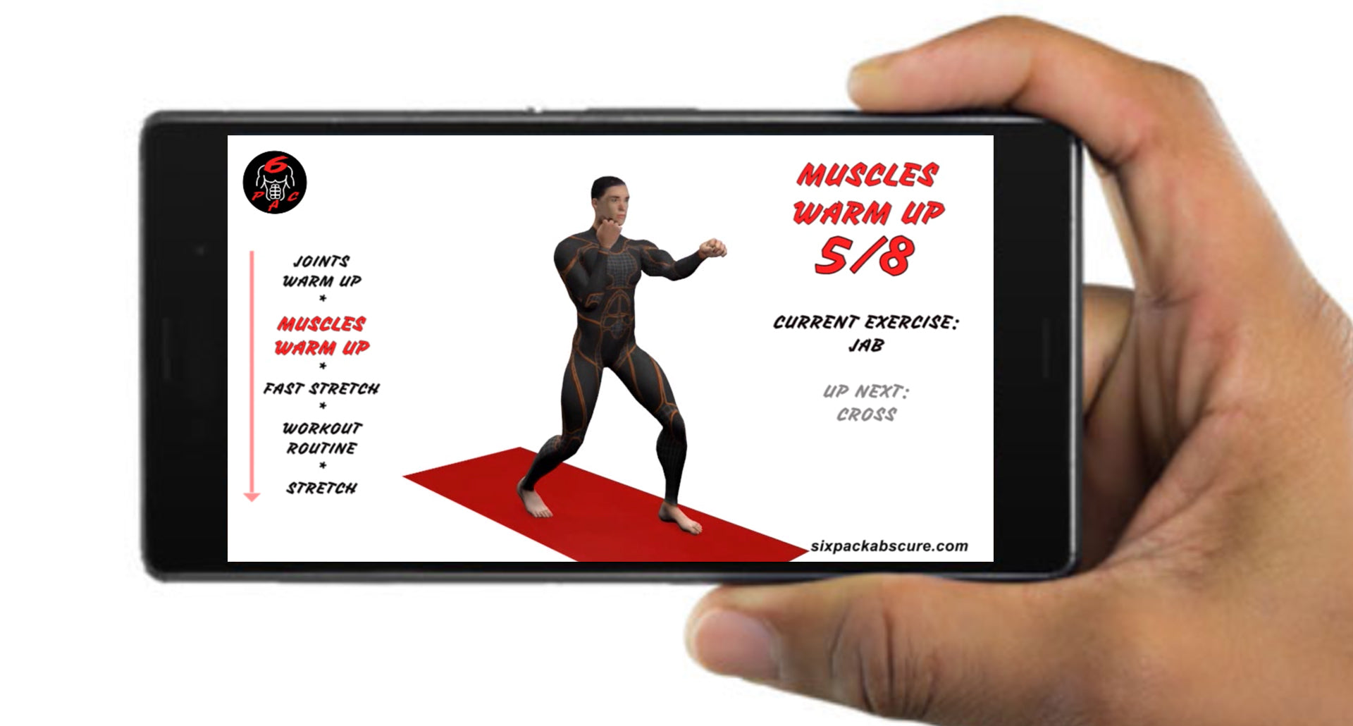 6PAC™ Home Gym Bodyweight Full Body Exercise Workout Plan can be transferred to your phone
