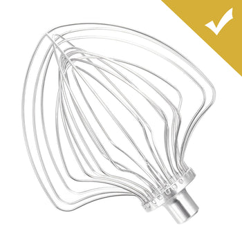WhiskMe™ Stainless Steel 11 Wire Whip - KitchenAid Electric Whisk Beater Attachment