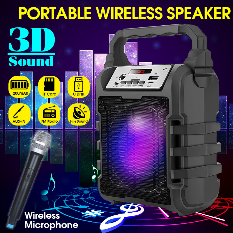 X-Sound™ Rugged Portable Outdoor Party Bluetooth Speaker with FM Radio