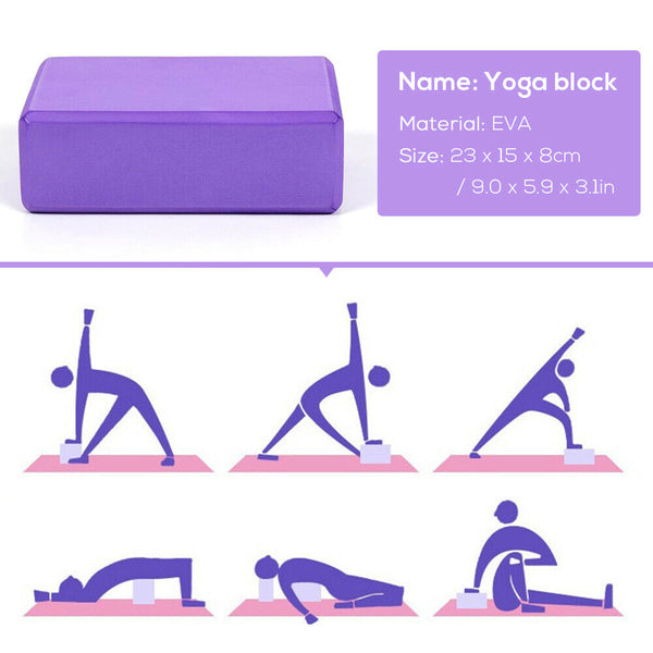 ZenC™ 5Pcs Yoga Accessories Kit Set - Yoga Block, Ball, Strap, Loop & Resistance Bands