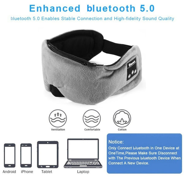 ZenC™ Bluetooth 5.0 Sleep Noise-Cancelling Headphones for Sleeping with Eye Cover