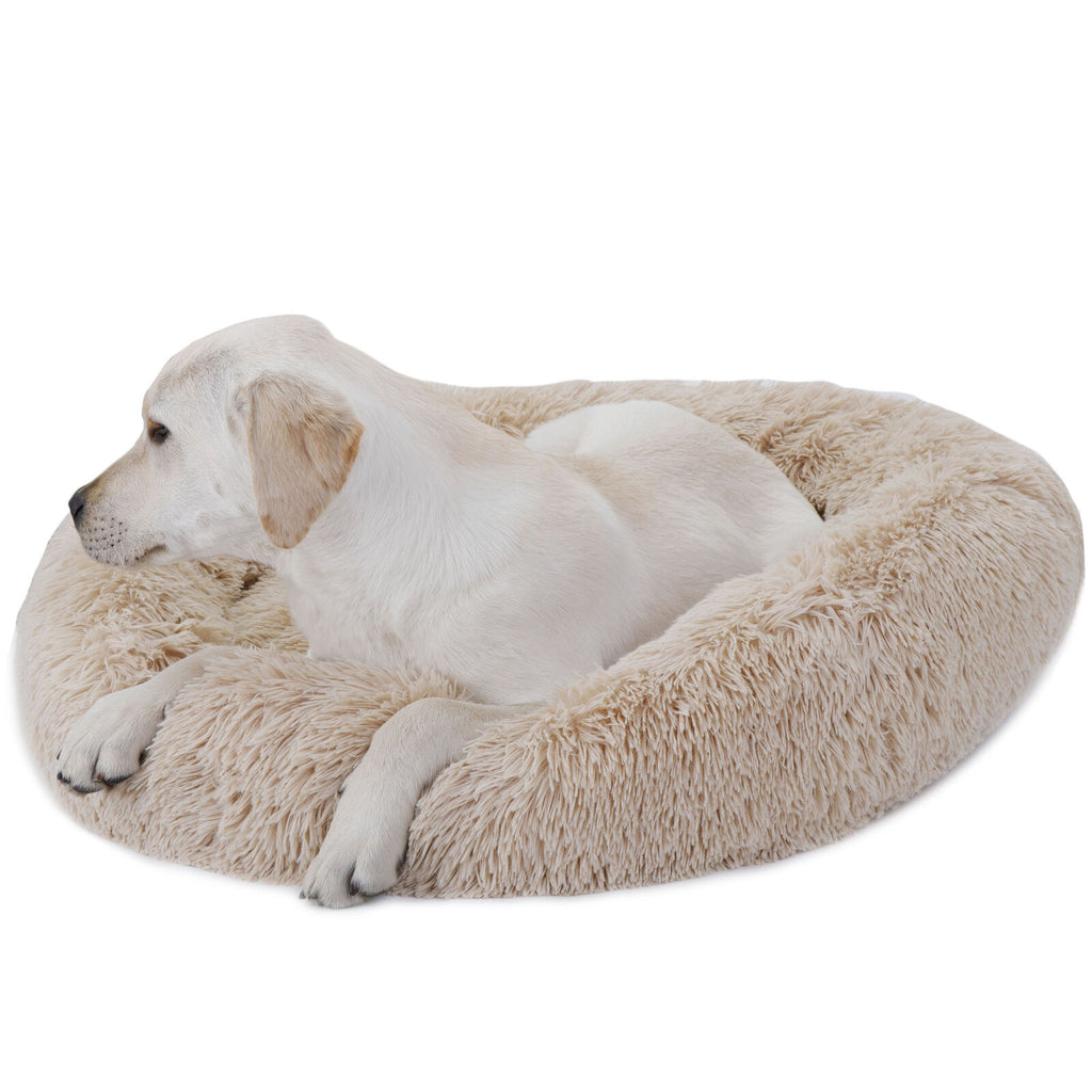 ZenC™ Calming 30-Inch Fluffy Non-Slip Donut Pet Puppy Dog Cat Bed