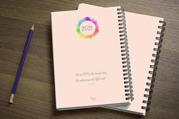 4 Happy U 2021 Yearly Weekly Happiness Schedule Planner & Gratitude Journal - back cover 2