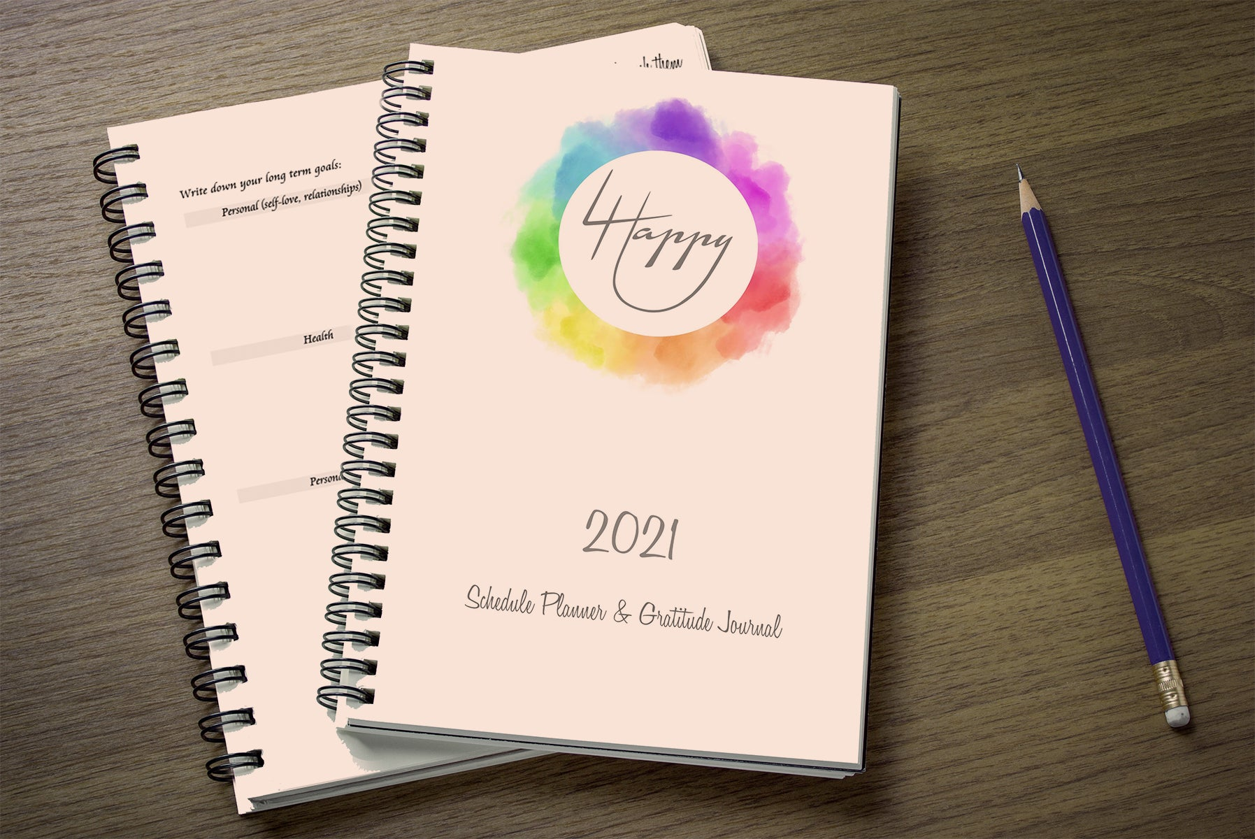 4 Happy U 2021 Yearly Weekly Happiness Schedule Planner & Gratitude Journal