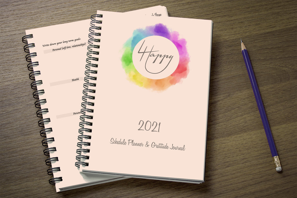 4 Happy U 2021 Yearly Weekly Happiness Schedule Planner & Gratitude Journal - cover2