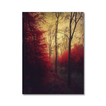 Load image into Gallery viewer, 'Ruby Red Forest' by Dirk Wüstenhagen Canvas