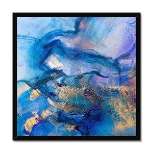 'Turquoise Dream' by Andrea Ehret Framed Print