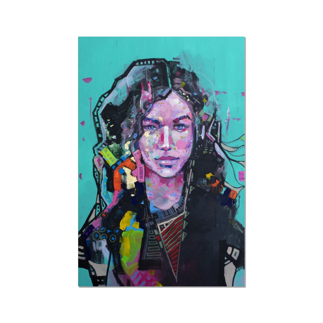 Lady 10 Portrait | Contemporary Portrait Art| MGallery, Find the beautiful collection of contemporary portrait art prints at MGallery. Our fine art prints are available in a variety of sizes-Fine art-mgallery