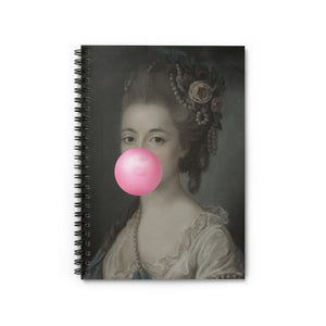 Bubblegum Portrait -5 by Young & Battaglia Spiral Notebook - Ruled Line