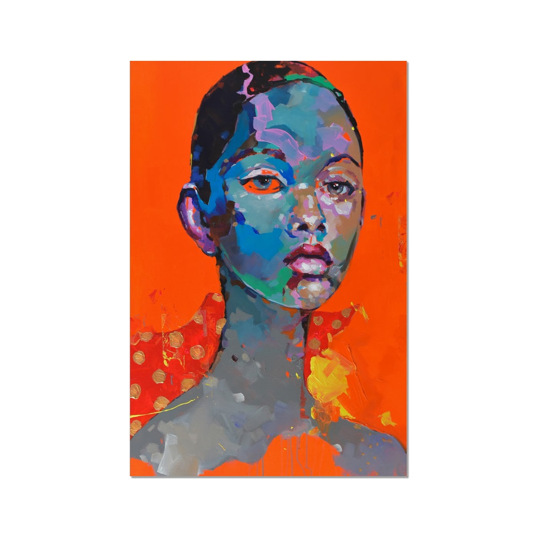 Lady 7 Portrait | Contemporary Fine Art Prints | MGallery, Browse the beautiful Contemporary Fine Art Prints at MGallery. All our fine art wall prints are produced using the latest Giclée printmaking.-Fine art-mgallery