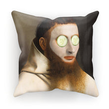 Load image into Gallery viewer, Cucumbers on man Cushion - modernaissancegallery