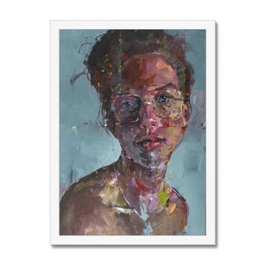 Lady 15 Portrait | Framed Wall Art | MGallery, Portrait Framed Artwork with a unique style! MGallery offers modern wall art prints with high-quality wood frames. Shop Now!-Fine art-mgallery