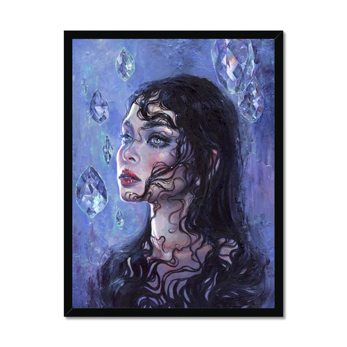 Phantom Rain | Female Portrait Painting, Buy Female Portrait Paintings! Add a beautiful style to your home with our fabulous Acrylic Abstract Art, all at best prices and worldwide shipping!.-mgallery