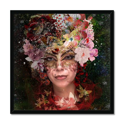 Awaiting Spring 70 | Colourful Portrait Framed Print | MGallery, This Colourful Portrait Framed Artwork is printed on premium fine art paper in a handmade high-quality wood frames with option of black, white or natural finish. -mgallery