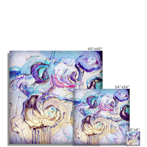 'Violet Flowers' by Andrea Ehret Fine Art Print