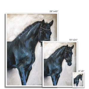 Dark_Horse 3 | Animal Art Framed Print| MGallery, Shop your Best Animal Art Framed Prints from variety of designs and sizes. Here you will find a collection of Contemporary Animal Art Prints.-mgallery