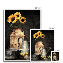 Load image into Gallery viewer, Sunflower Still Life | Flower Art Prints for Sale | MGallery, Flower Art Prints for Sale at MGallery! Our Abstract Flower Framed Wall Art Prints are available in a variety of sizes and good quality. 100 year colour guarantee.-mgallery