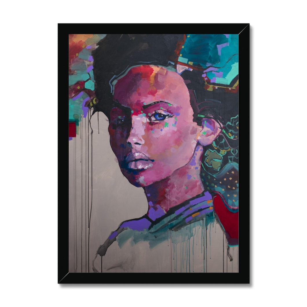 Lady 30 Portrait | Awesome Artwork for Sale | MGallery, MGallery is the best way to find the Awesome artworks for decorating your space. We have a beautiful collection of framed paper wall art prints UK, Buy now!-Fine art-mgallery