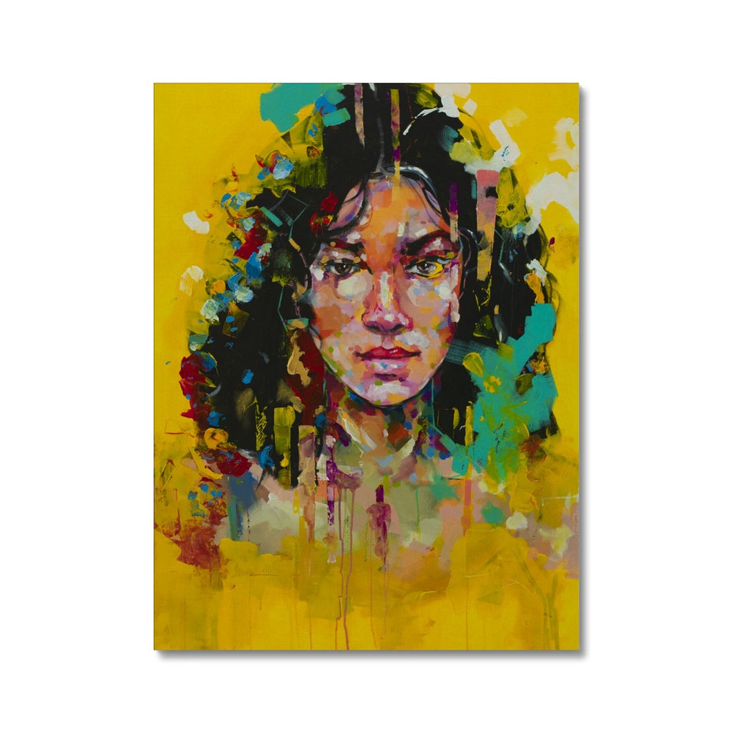 Lady 1 Portrait | Stretched Canvas Print near me | MGallery, Design your everyday with Mgallery Canvas art prints you'll love. Cover your walls with Stretched Canvas Prints without Frames. Available Worldwide shipping!-Fine art-mgallery