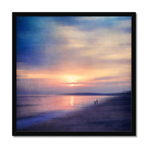 'Calm Sea  Sunset' by  Dirk Wüstenhagen Framed Print