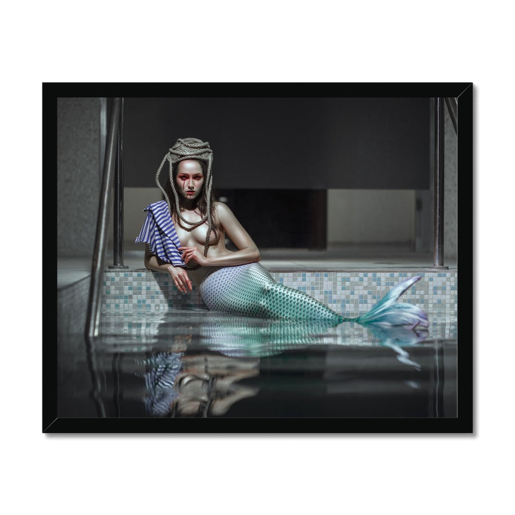 'Catched Mermaid II' by Katerina Klio Framed Print