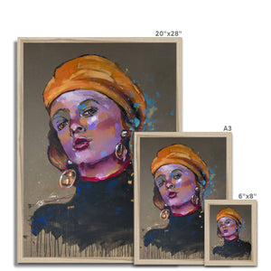 'Lady 19 Portrait | Framed Wall Arts | MGallery, Our Collection of Framed Wall Arts are available in a variety of sizes and 3 types of frame selections to suit your home. Fast and worldwide shipping available!-Fine art-mgallery