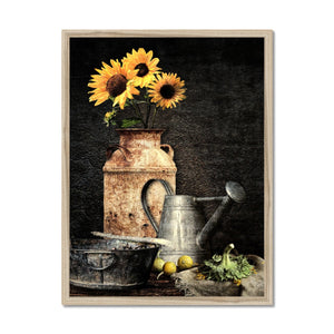 Sunflower Still Life | Flower Art Prints for Sale | MGallery, Flower Art Prints for Sale at MGallery! Our Abstract Flower Framed Wall Art Prints are available in a variety of sizes and good quality. 100 year colour guarantee.-mgallery