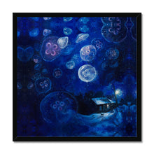 Load image into Gallery viewer, It's Jellyfishing | Blue Wall Art Uk | Mgallery, Blue Wall Art UK for Sale with huge variety of sizes and styles. Design your gallery wall with our beautiful collection of Acrylic Painting Art Prints UK.-mgallery