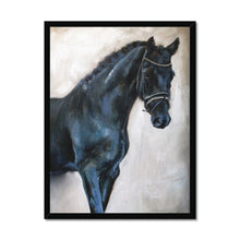 Load image into Gallery viewer, Dark_Horse 3 | Animal Art Framed Print| MGallery, Shop your Best Animal Art Framed Prints from variety of designs and sizes. Here you will find a collection of Contemporary Animal Art Prints.-mgallery