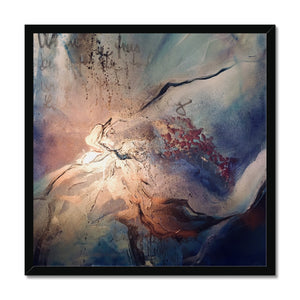 'Burning Moon' by Andrea Ehret Framed Print