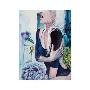 In Her Garden | Portrait Art Deco | Mgallery, Buy Portrait Art Deco UK! Add a unique style to your home with our Beautiful Acrylic Abstract Art, all at best prices and worldwide shipping!-mgallery