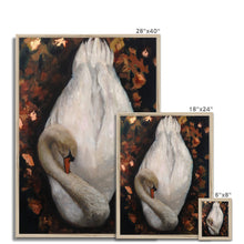 Load image into Gallery viewer, Sleeping Swan | Swan Canvas Wall Art | MGallery, Our Collection of Beautiful Swan Canvas Wall Arts are available in a variety of sizes to suit your wall decoration. Delivered ready to hang.-mgallery