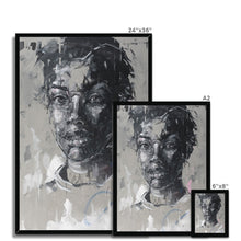 Load image into Gallery viewer, Lady 11 Portrait | Black and White Framed Art | MGallery, Framed contemporary art prints, made and curated for you! We bring the best collection of Black and White Framed Art to decorate your home -Fine art-mgallery