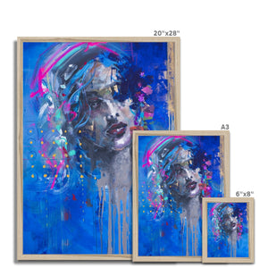 Lady 22 Portrait | Art Deco Framed Prints | MGallery, This Art Deco Framed Print is printed on premium fine art paper with high-quality wood frames of black, white or natural finish. -Fine art-mgallery