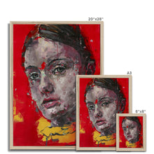 Load image into Gallery viewer, Lady 3 Portrait | Framed Prints Wall Decor for Sale | MGallery, Buy Framed Printed Wall Decor from MGallery. These are digitally printed Colourful Portrait Wall Art with variety of quality wood frames.-Fine art-mgallery
