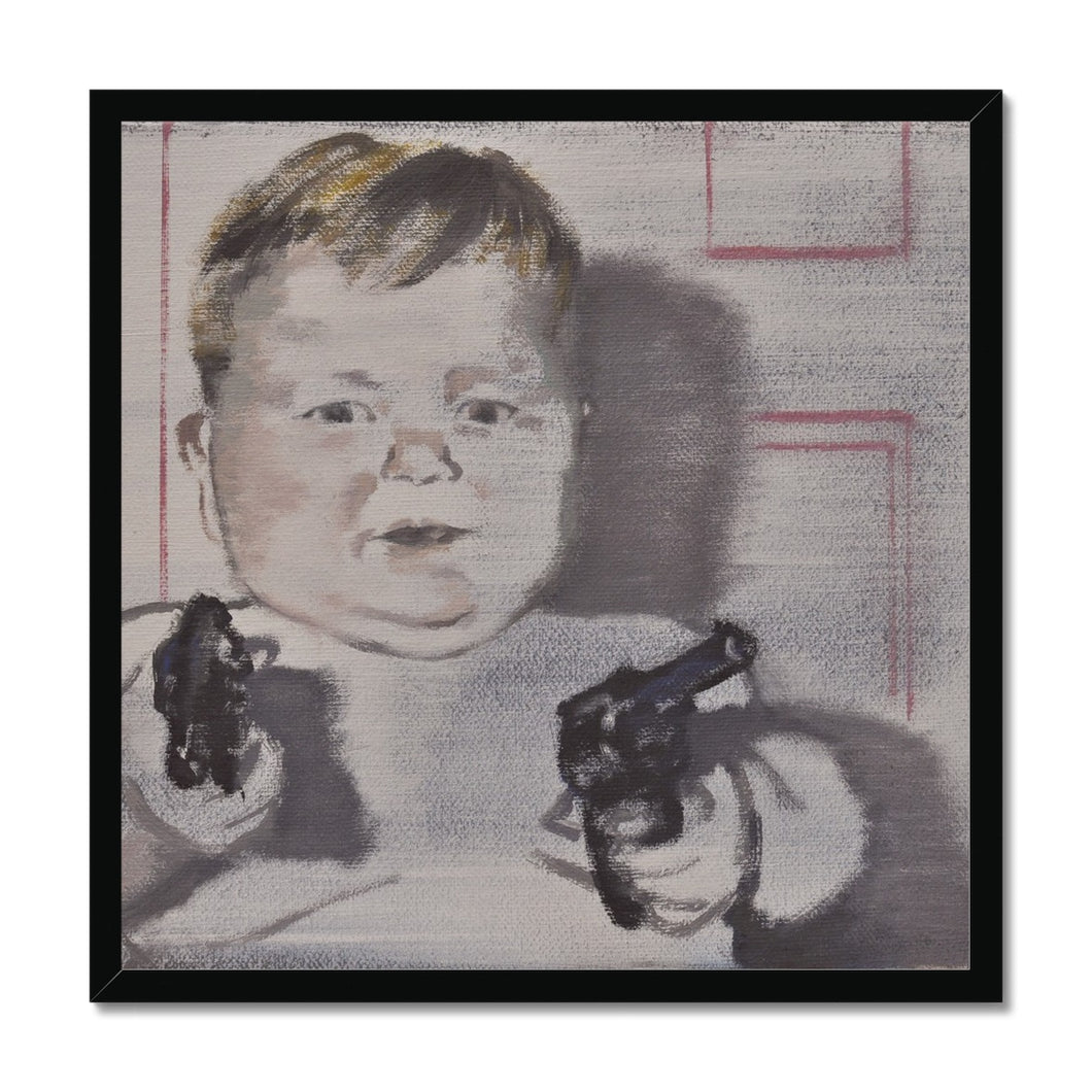 'Child -14' by Vincenzo Sgaramella Framed Print