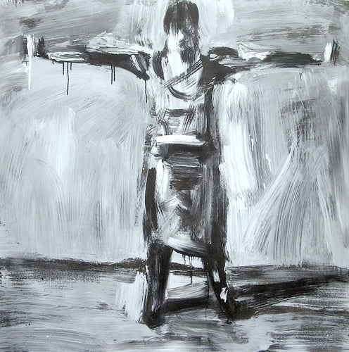 Jessika With Arms Stretched Out | Original Artwork UK | MGallery, Decorate your room with Museum Quality Original Artworks UK.Best Beautiful Black and White Original Artworks UK available in different sizes with quality materials.-mgallery