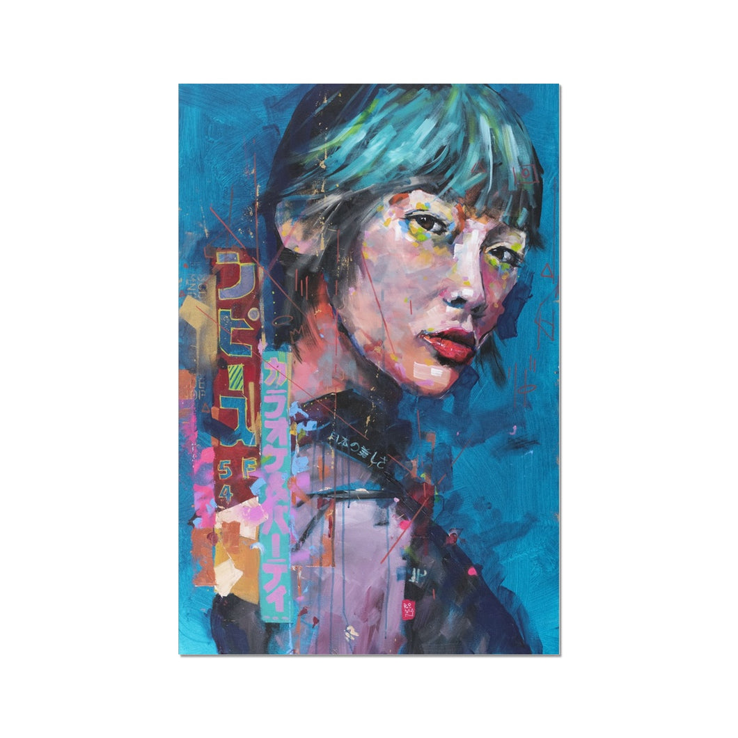 Lady 8 Portrait | London Wall Art Prints | MGallery, Browse the beautiful London Wall Art Prints at MGallery. All our Fine art prints are produced using the latest Giclée Printmaking.-Fine art-mgallery