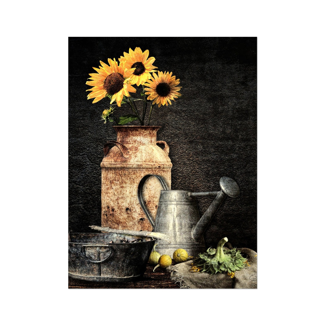 Sunflower Still Life | Contemporary Flower Wall Arts | MGallery, Find your Best Contemporary Flower Wall Arts for Sale at MGallery. All Digital Flower Art Prints UK are professionally printed with high quality paper materials.-mgallery