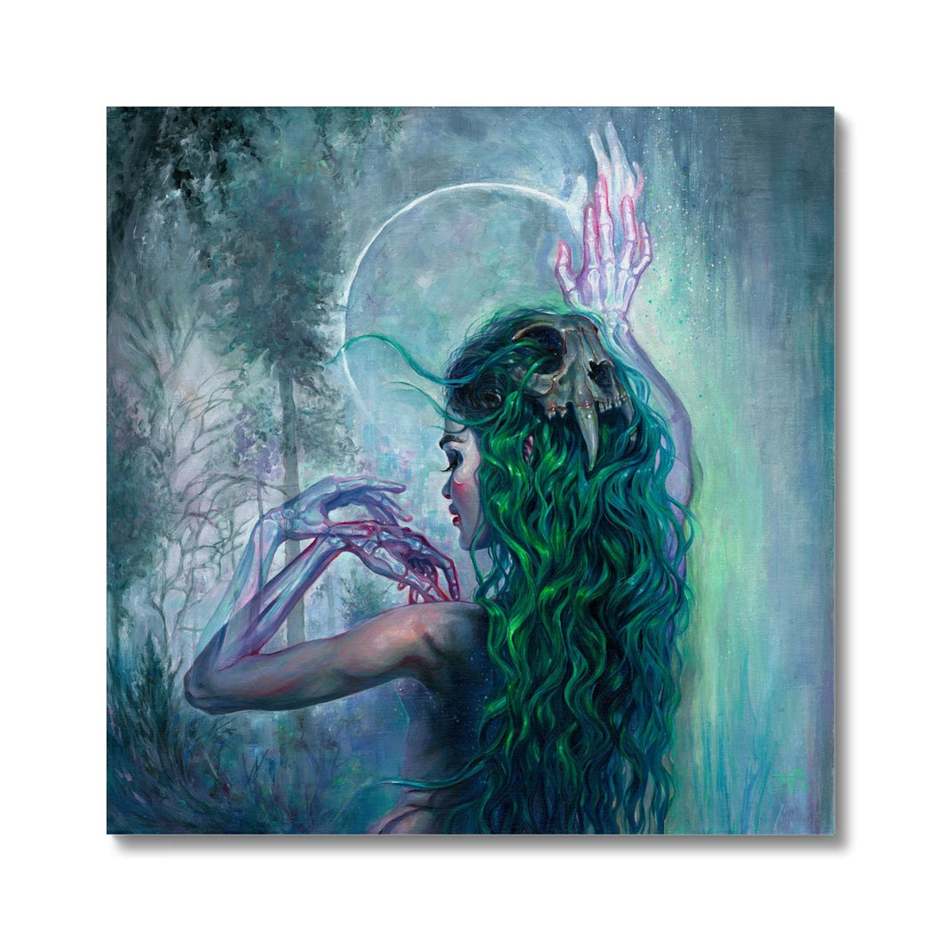 Shaman Bones | Green Canvas Wall Art | Mgallery, Choose your wall art for living room from category Green Canvas Wall Art at MGallery. Express Delivery, museum-quality paper, Delivered ready to hang.-mgallery