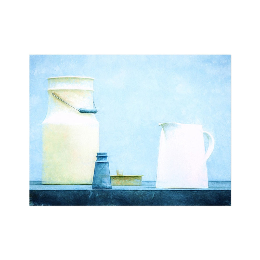 Milk Blue | Blue Still Life Digital Prints | MGallery, Shop High Quality Blue Still Life Painting Prints! Decorate your walls with Blue Still Life Art Digital Prints Online. Fast Worldwide Delivery Available!-mgallery