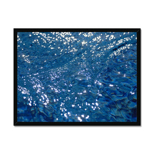 'Silk water 2' by Michael Banks Framed Print