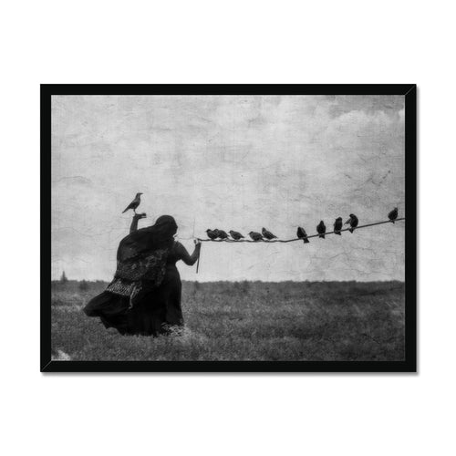 Birds In The Hand | Black and White Framed Arts | MGallery, Find your Black and White Framed Arts for Living room at MGallery. All Dark Wall Decor Art prints UK are professionally printed with high quality paper materials.-mgallery