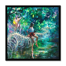 Load image into Gallery viewer, Dopamine Jungle | Abstract Nature Wall Art | Mgallery, Shop Beautiful abstract Nature Wall Art created by Tanya Shatseva. MGallery offers Modern Acrylic Painting Wall Art Prints with high-quality wood frames. Shop Now!-mgallery