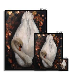Sleeping Swan | Swan Canvas Wall Art | MGallery, Our Collection of Beautiful Swan Canvas Wall Arts are available in a variety of sizes to suit your wall decoration. Delivered ready to hang.-mgallery