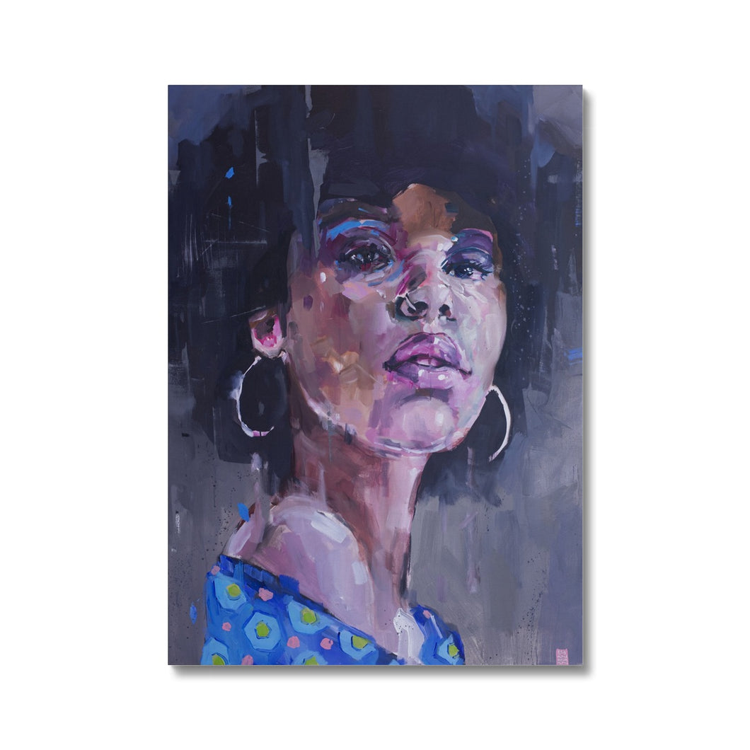 Lady 6 Portrait | Acrylic Abstract Portrait Canvas | MGallery, Our Collection of High Quality Acrylic Abstract Portrait Canvas Prnts are available in a variety of sizes to suit your wall decoration. Delivered ready to hang.-Fine art-mgallery